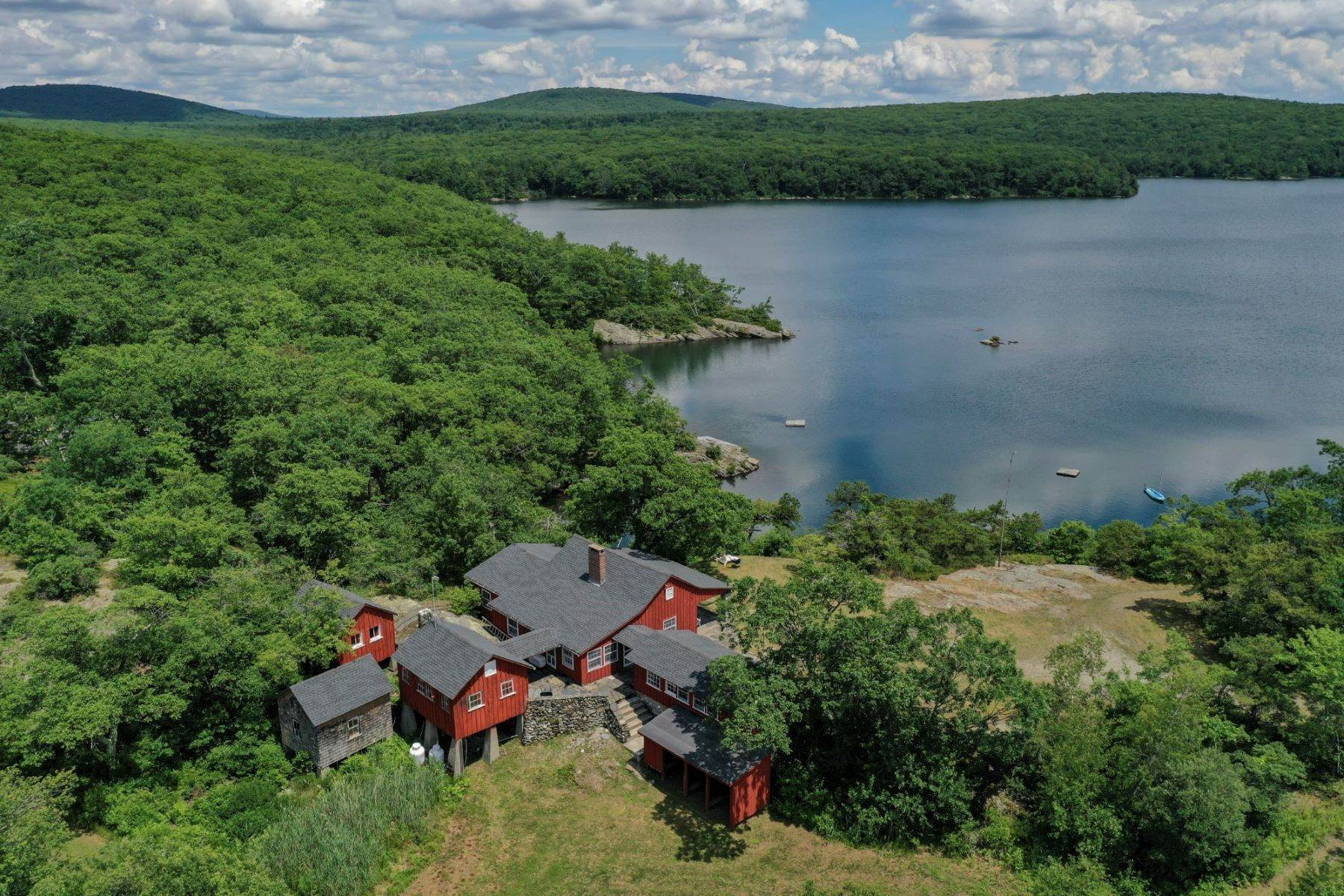Single Family Homes for Sale at Lakeside Camp 599 Grassy Pond Drive Millerton, New York 12546 United States