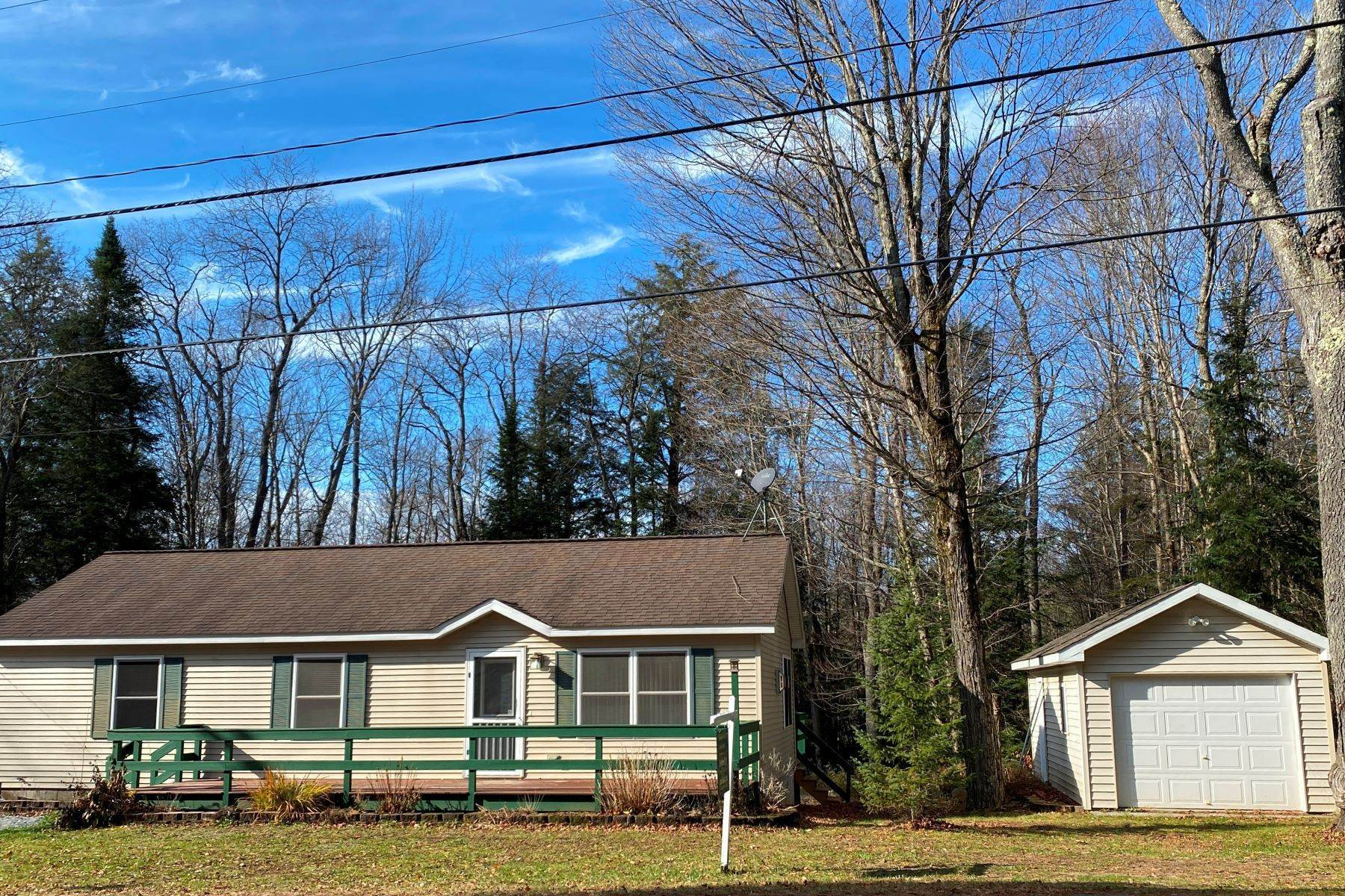 Single Family Homes for Sale at Ranch Home with 2 Garages 4018 Lakeview Road Forestport, New York 13472 United States