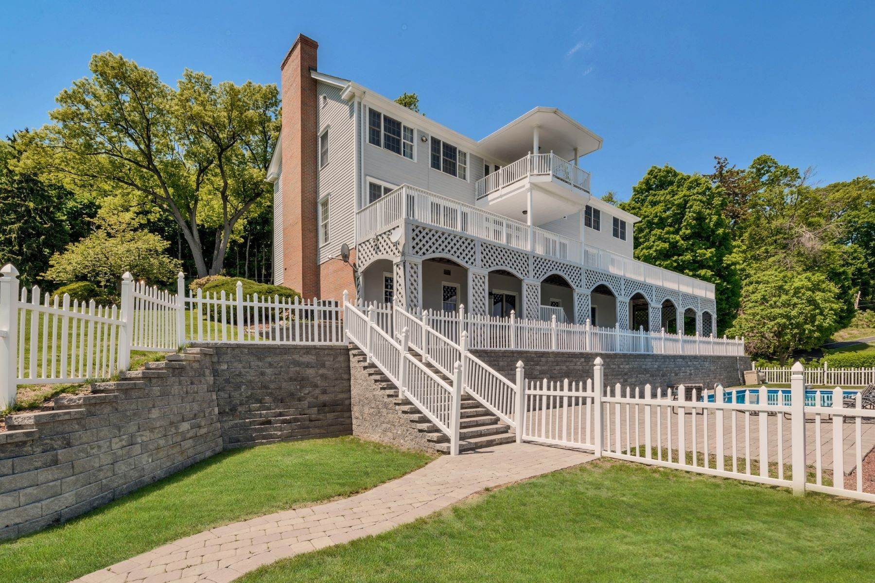 Single Family Homes for Sale at Majestic Hudson River Views 578 River Road Newburgh, New York 12550 United States