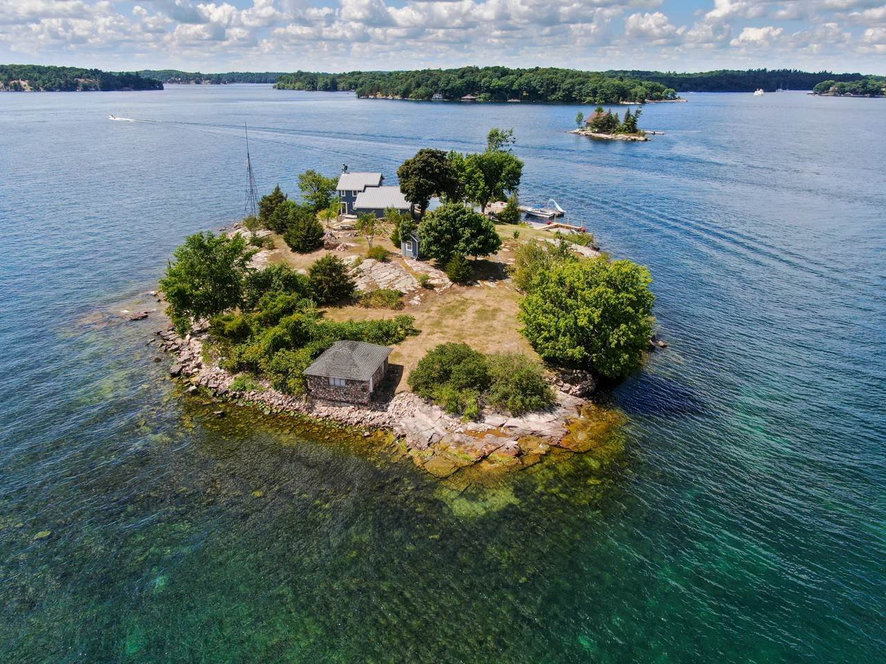 Private Islands for Sale at Woronoco Island in the 1000 Islands 41884 Woronoco Island Clayton, New York 13624 United States