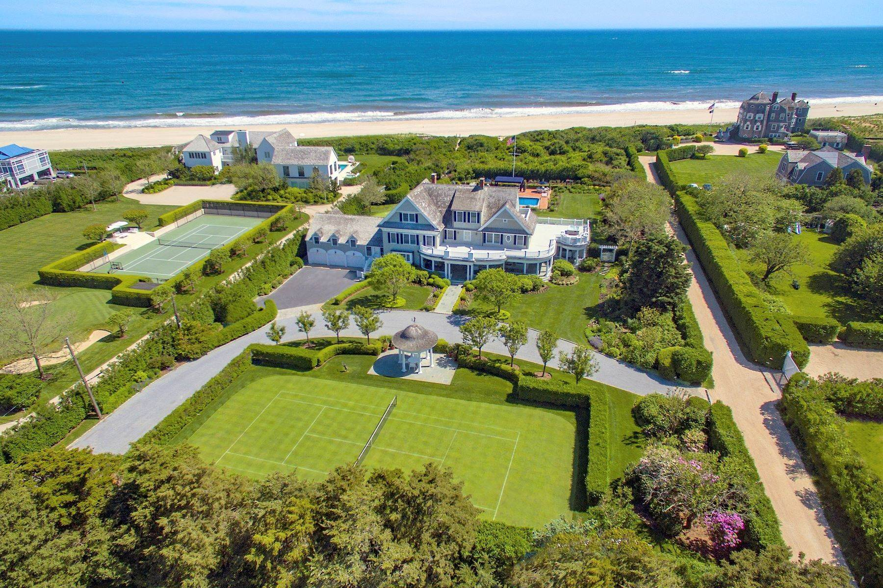 Single Family Homes for Sale at 'Ocean Dream' Estate With Pool & Tennis 5 Fair Lea (Aka 36 Gin Lane) Southampton, New York 11968 United States