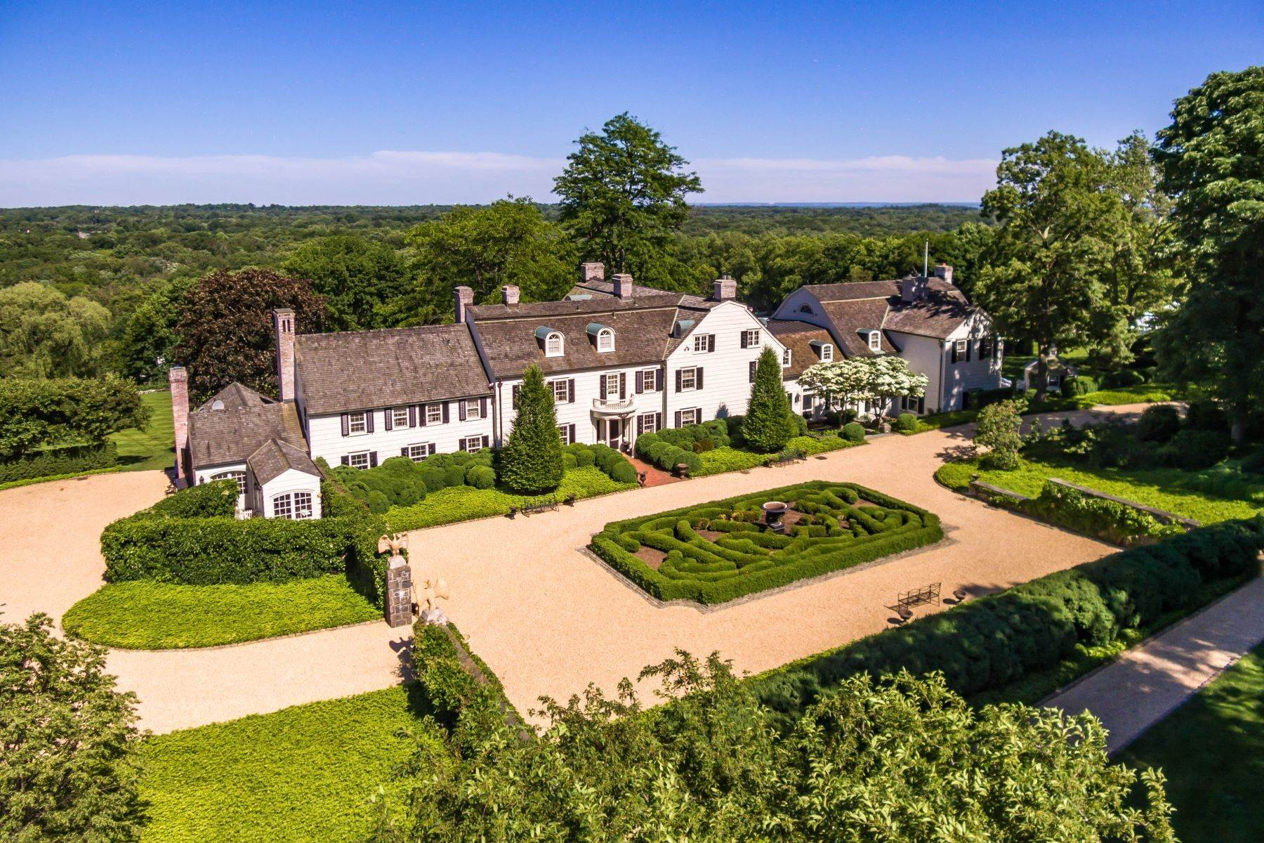 Single Family Homes for Sale at DENBIGH FARM- Magnificent Manor Home 591 Riversville Road Greenwich, Connecticut 06831 United States