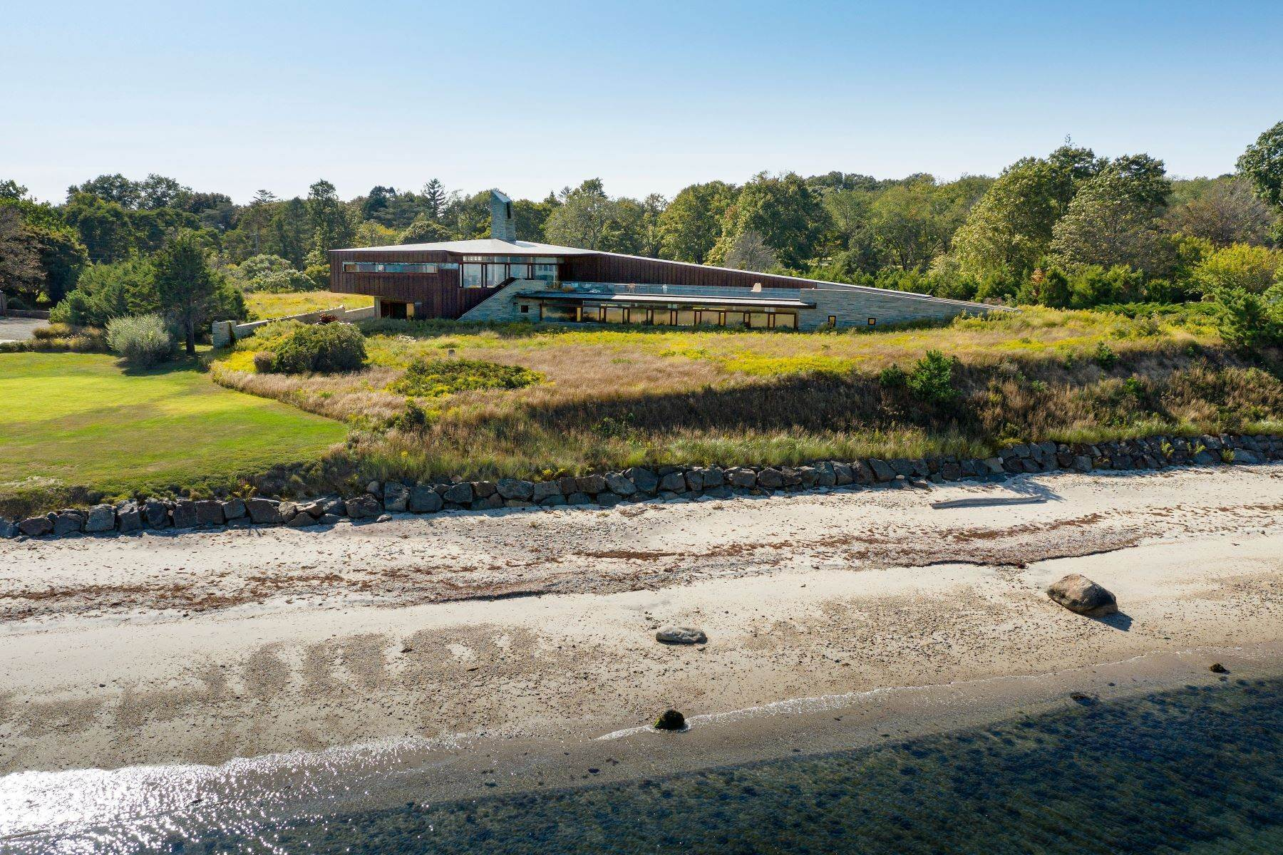 Single Family Homes for Sale at Shelter Island Waterfront Masterpiece 91 Ram Island Drive Shelter Island, New York 11965 United States