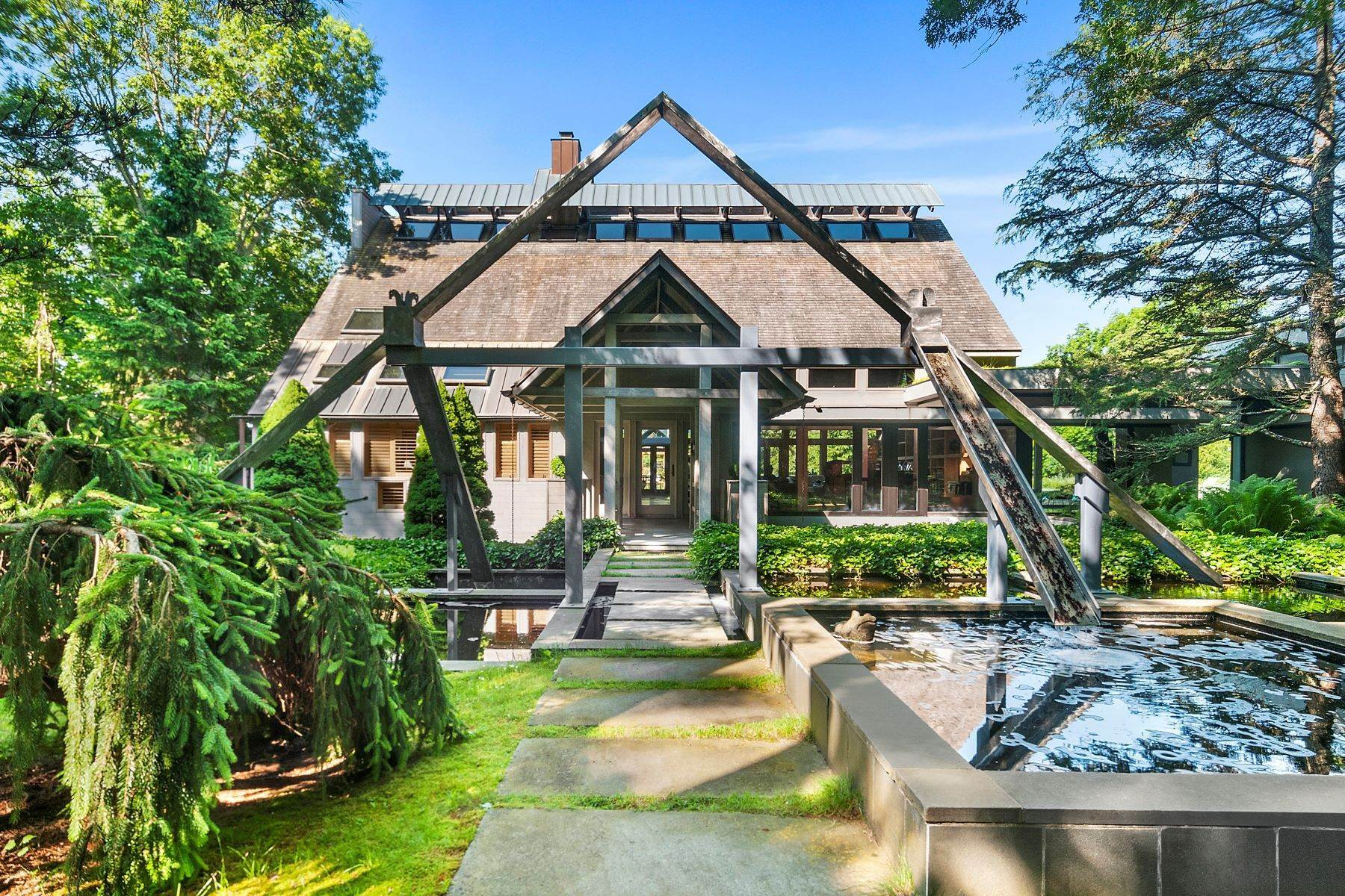 Single Family Homes for Sale at Private Oasis in Wainscott South 40 Sayres Path Wainscott, New York 11975 United States
