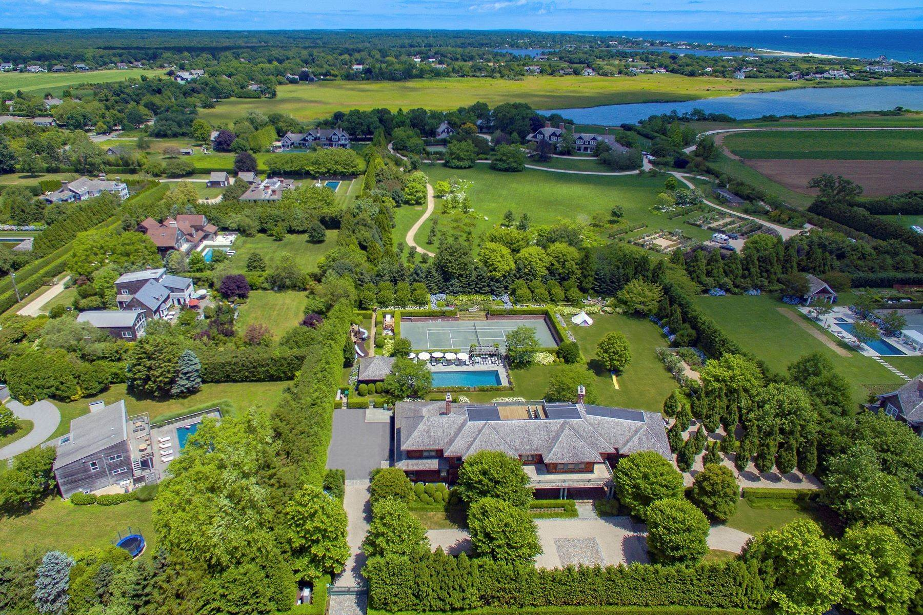 Single Family Homes for Sale at Exceptional Estate On Town Line Road 109 Town Line Road Wainscott, New York 11975 United States