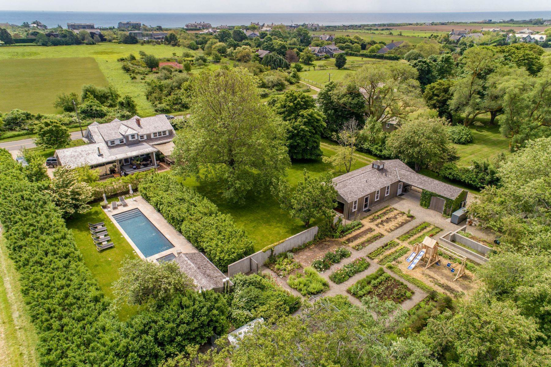 Single Family Homes for Sale at Ultimate Farm Chic Compound 98 Daniels Lane Sagaponack, New York 11962 United States