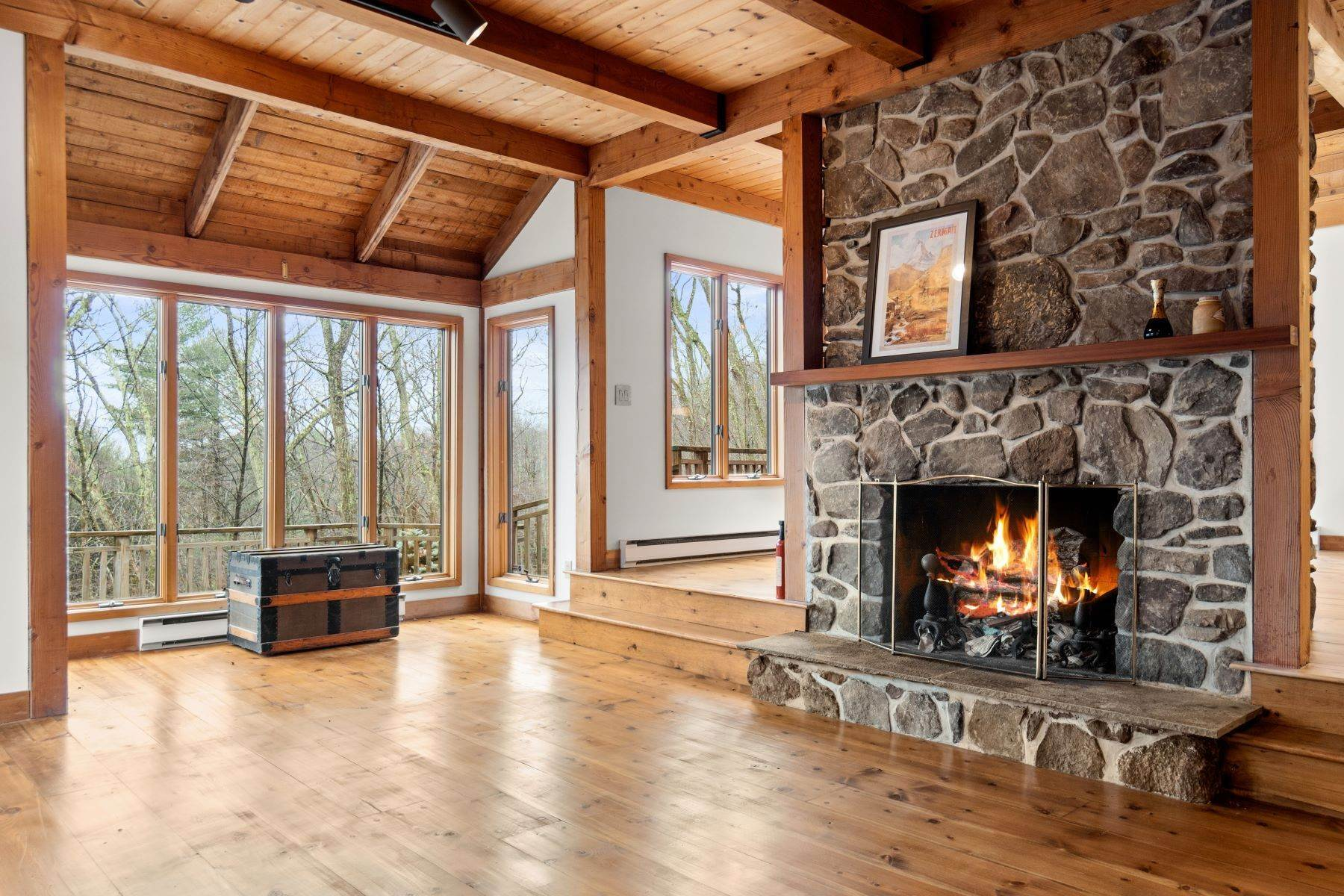 11. Single Family Homes for Sale at Secluded Mountain Top Post & Beam 35 Stone Ledge Rd Hillsdale, New York 12529 United States