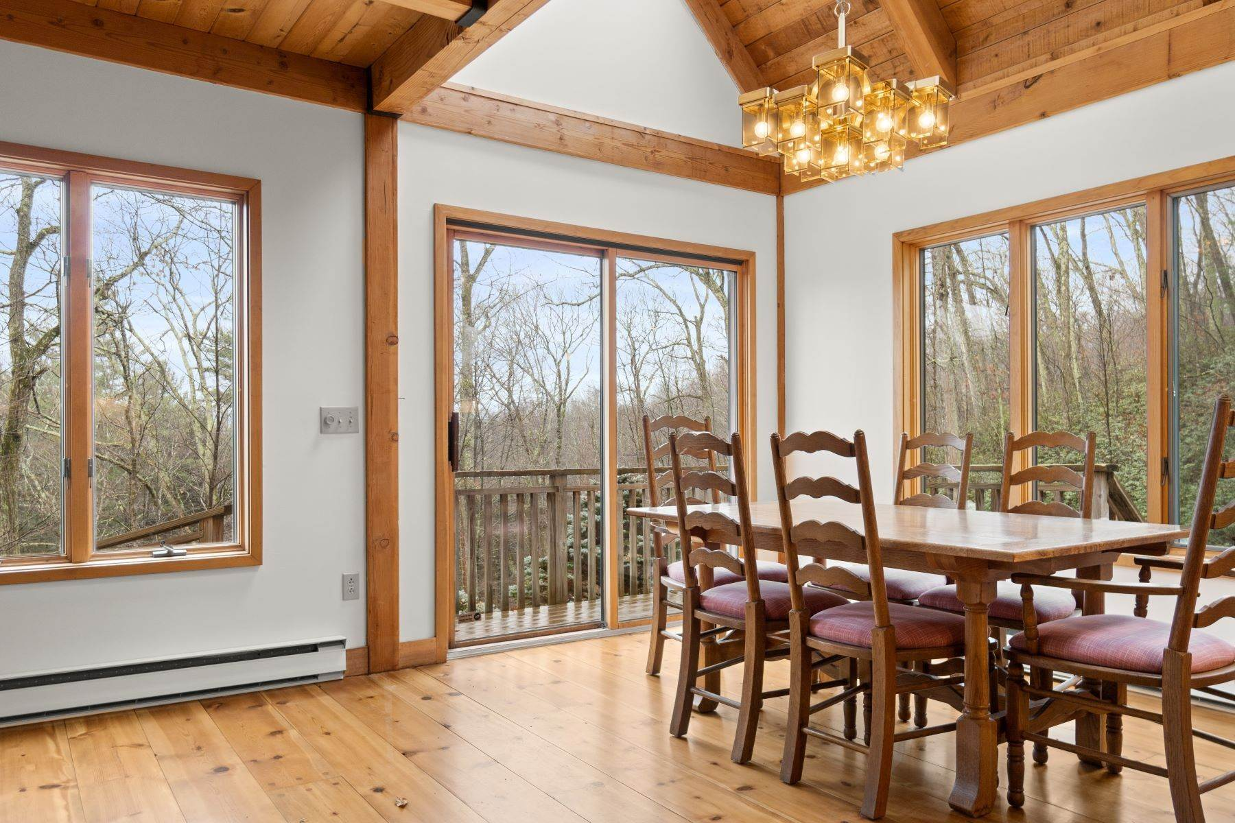 7. Single Family Homes for Sale at Secluded Mountain Top Post & Beam 35 Stone Ledge Rd Hillsdale, New York 12529 United States