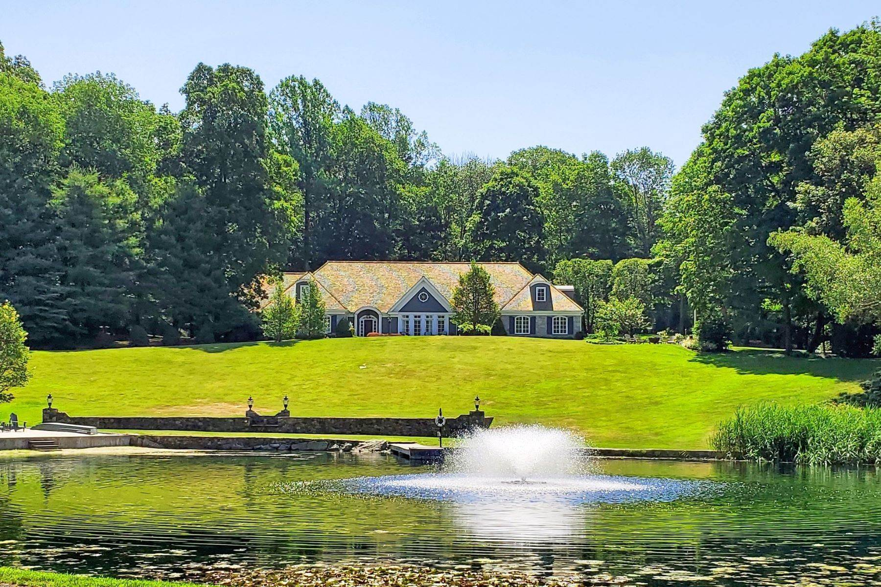 Single Family Homes for Sale at EXTRAORDINARY FRENCH COUNTRY COMPOUND! 104 West Mountain Road Ridgefield, Connecticut 06877 United States