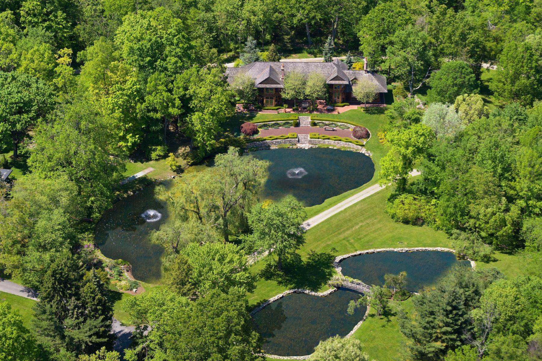 Single Family Homes for Sale at Idyllic Compound on 29 Acres 323 Florida Hill Road Ridgefield, Connecticut 06877 United States