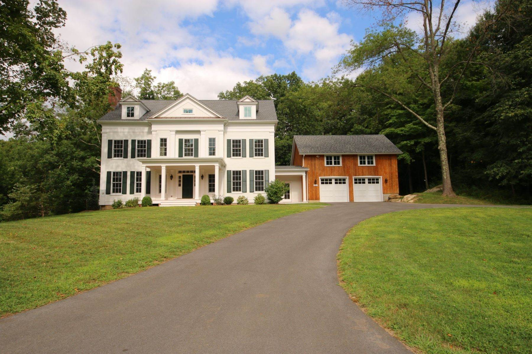 Single Family Homes for Sale at Custom New Construction 225 Bennetts Farm Road, Lot 6 Ridgefield, Connecticut 06877 United States